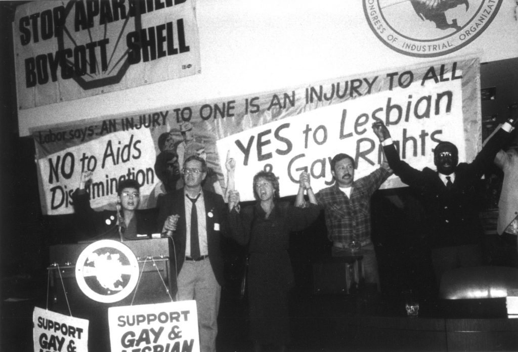 After our founding, Resist quickly supported the HIV/AIDs movement and the queer liberation movement