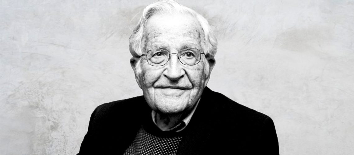 Black and White headshot of Noam Chomsky